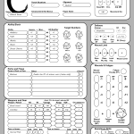 New Character Sheet